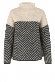 Second Female |  Sweater with stand-up collar Herrin | blcak  | Picture 1