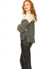 Second Female |  Sweater with stand-up collar Herrin | blcak  | Picture 5