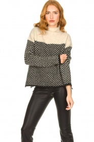 Second Female |  Sweater with stand-up collar Herrin | blcak  | Picture 4
