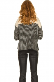 Second Female |  Sweater with stand-up collar Herrin | blcak  | Picture 6