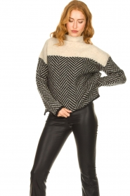 Second Female |  Sweater with stand-up collar Herrin | blcak  | Picture 2