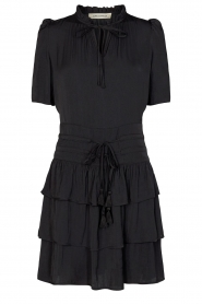 Sofie Schnoor |  Dress with drawstrings Lilly | black  | Picture 1
