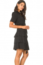 Sofie Schnoor |  Dress with drawstrings Lilly | black  | Picture 6