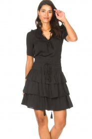 Sofie Schnoor |  Dress with drawstrings Lilly | black  | Picture 2