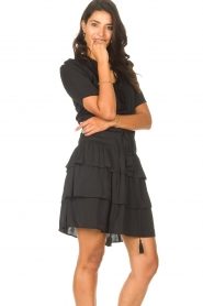 Sofie Schnoor |  Dress with drawstrings Lilly | black  | Picture 5