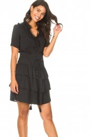 Sofie Schnoor |  Dress with drawstrings Lilly | black  | Picture 4