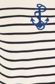 Set | Gebreide trui Marit | wit/blauw  | Afbeelding 6