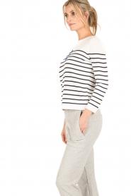 Set | Gebreide trui Marit | wit/blauw  | Afbeelding 4