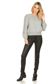 Second Female |  Sweater with puff sleeves Carmella | grey  | Picture 3