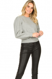 Second Female |  Sweater with puff sleeves Carmella | grey  | Picture 2