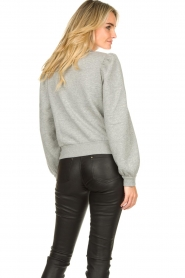 Second Female |  Sweater with puff sleeves Carmella | grey  | Picture 5