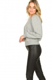 Second Female | Sweater met pofmouwen Carmella | grijs  | Afbeelding 4
