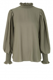 Second Female |  Blouse with balloon sleeves Florenza | green  | Picture 1