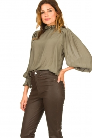 Second Female |  Blouse with balloon sleeves Florenza | green  | Picture 6