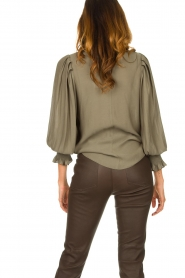 Second Female |  Blouse with balloon sleeves Florenza | green  | Picture 5