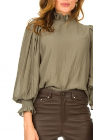Second Female |  Blouse with balloon sleeves Florenza | green  | Picture 7