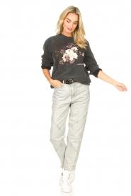 Sofie Schnoor    Sweater with imprint Viola   black     Picture 3
