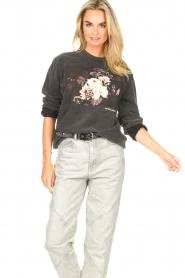 Sofie Schnoor    Sweater with imprint Viola   black     Picture 2