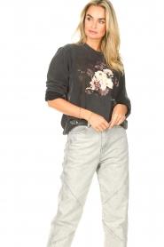 Sofie Schnoor    Sweater with imprint Viola   black     Picture 4