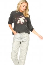 Sofie Schnoor    Sweater with imprint Viola   black     Picture 5