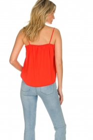 Des Petits Hauts |  Sleeveless top Tulyss | red  | Picture 4