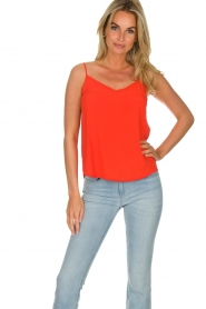 Des Petits Hauts |  Sleeveless top Tulyss | red  | Picture 2