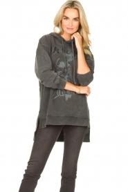 Sofie Schnoor | Sweater jurk Melina | zwart  | Afbeelding 4