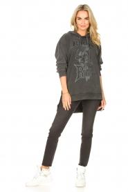 Sofie Schnoor | Sweater jurk Melina | zwart  | Afbeelding 3
