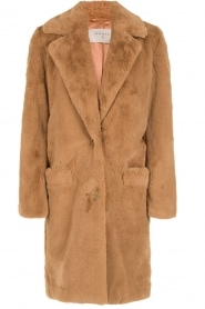 Faux-fur coat Walston | brown