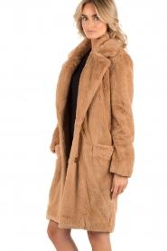 Faux-fur jas Walston | bruin