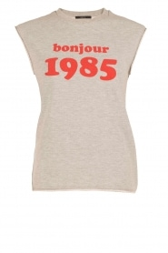 Set | Sweater tanktop Bonjour | grijs | Afbeelding 1