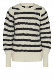 Sofie Schnoor |  Knitted sweater with stripes Noemie | natural  | Picture 1