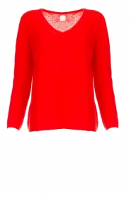 Des Petits Hauts |  Knitted sweater Adao | red  | Picture 1