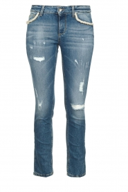 Liu Jo | Jeans with pearls Flavia | blue  | Picture 1