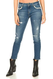 Liu Jo | Jeans with pearls Flavia | blue  | Picture 5