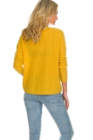 Des Petits Hauts |  Knitted sweater Adao | ochre yellow  | Picture 5