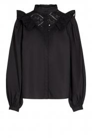 Sofie Schnoor |  Broderie blouse Charlene | black   | Picture 1