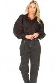 Sofie Schnoor |  Broderie blouse Charlene | black   | Picture 4