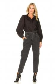 Sofie Schnoor |  Broderie blouse Charlene | black   | Picture 3