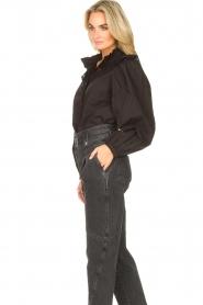 Sofie Schnoor |  Broderie blouse Charlene | black   | Picture 5