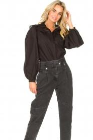 Sofie Schnoor |  Broderie blouse Charlene | black   | Picture 2