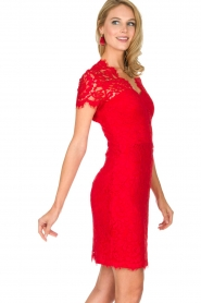 Set | Kanten jurk Belle | rood  | Afbeelding 5