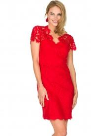 Set | Kanten jurk Belle | rood  | Afbeelding 4