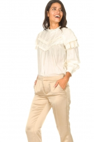 Sofie Schnoor |  Top with lace Frencia | natural  | Picture 2
