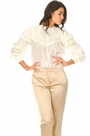 Sofie Schnoor |  Top with lace Frencia | natural  | Picture 5