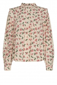 Sofie Schnoor |  Blouse with floral print Maylon | natural  | Picture 1