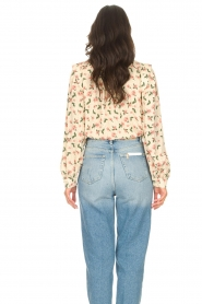 Sofie Schnoor |  Blouse with floral print Maylon | natural  | Picture 6