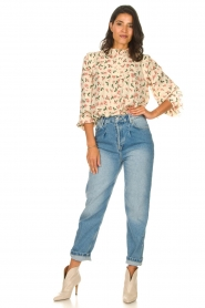 Sofie Schnoor |  Blouse with floral print Maylon | natural  | Picture 3
