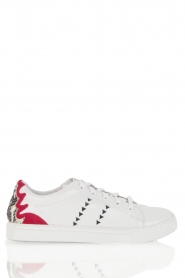 Leather sneaker Vera  | red