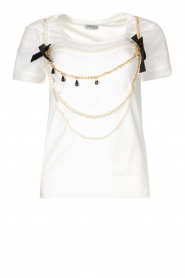 Liu Jo |  T-shirt with chain detail Edor | white  | Picture 1